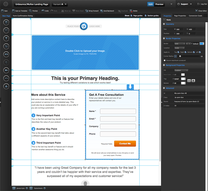 How to Collect More Leads Using Unbounce Landing Pages and Wufoo | Wufoo