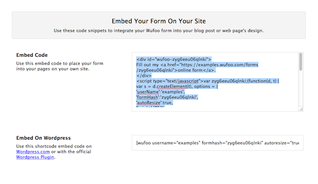 How To Make Your Facebook Form Official Embed It Wufoo