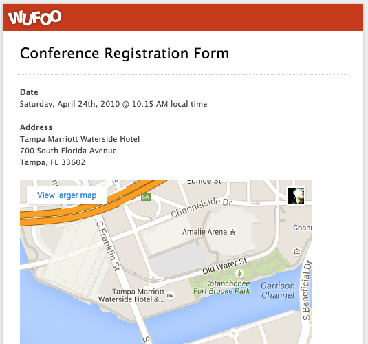 Top 5 event registration form templates wufoo wufoo conference registration form the difference altavistaventures Image collections