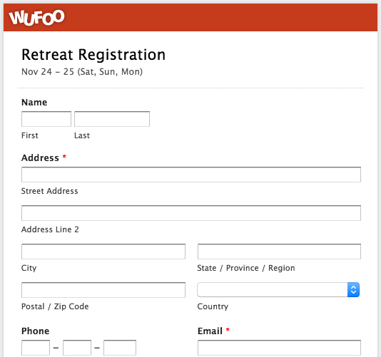 event booking form template word - top 5 event registration form templates wufoo