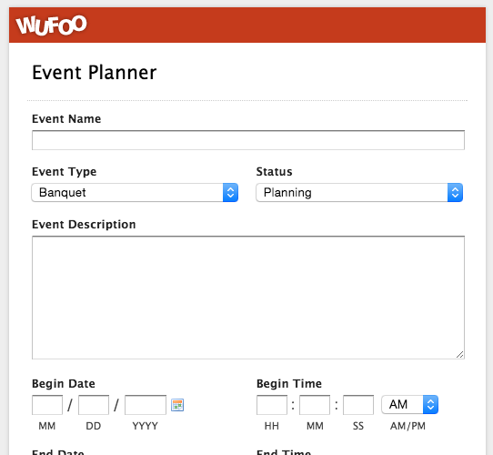 top 5 event registration form templates wufoo