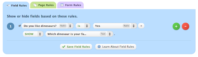how to set up multiple form rules
