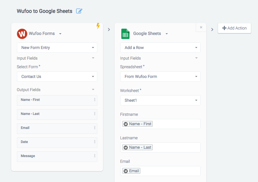 Here's how to connect Wufoo with Google Sheets | Wufoo