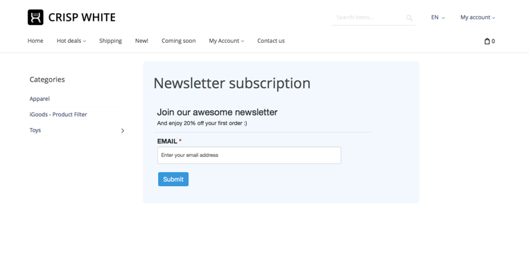 Wufoo Newsletter Subscription Form