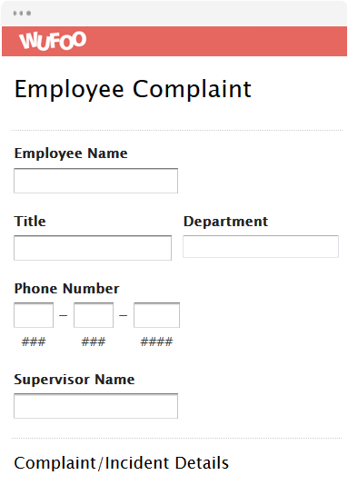 template preview view template use template employee complaint form