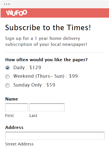 subscription card template