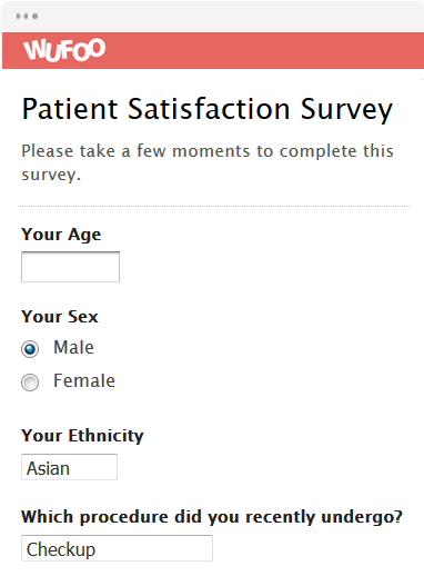 Template Preview. View Template Use Template · Patient Satisfaction Survey