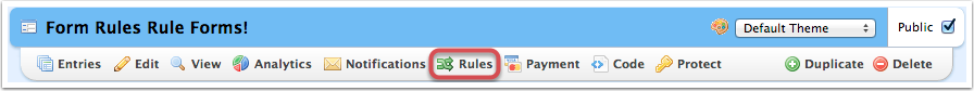 rules button