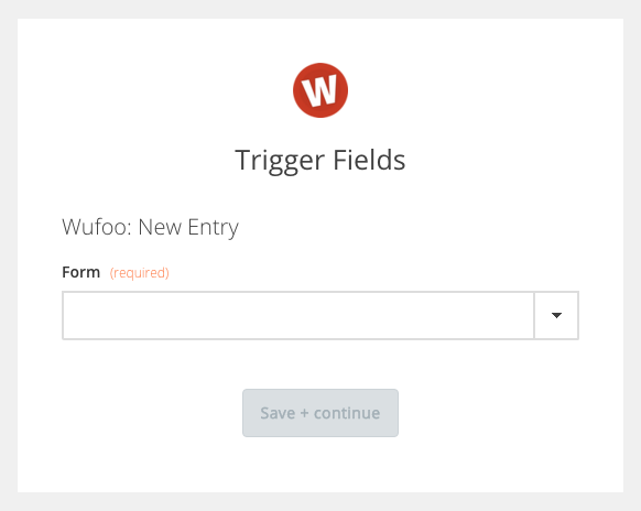 Zapier Wufoo Form Select