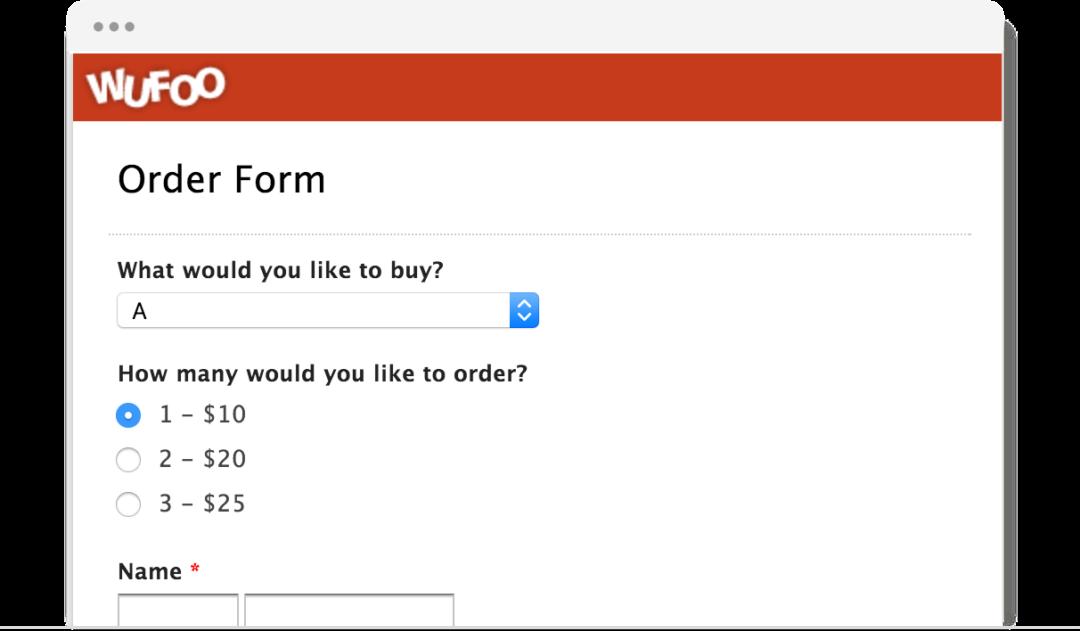 Wufoo Order Form