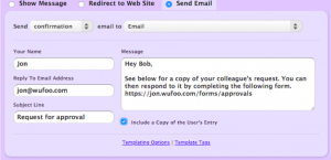 Creating a customized email from requestor's form