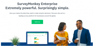 SurveyMonkey Enterprise's homepage