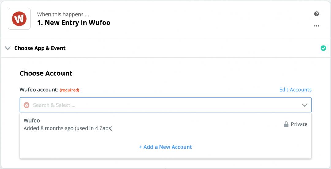 Zapier Wufoo Account Sync