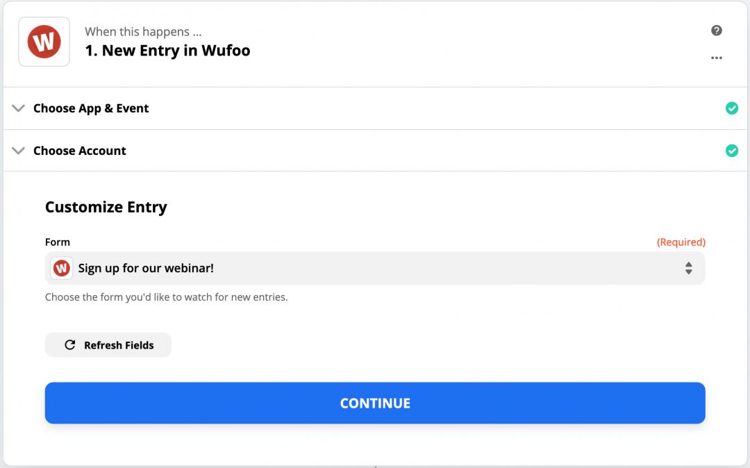 Wufoo Form Select