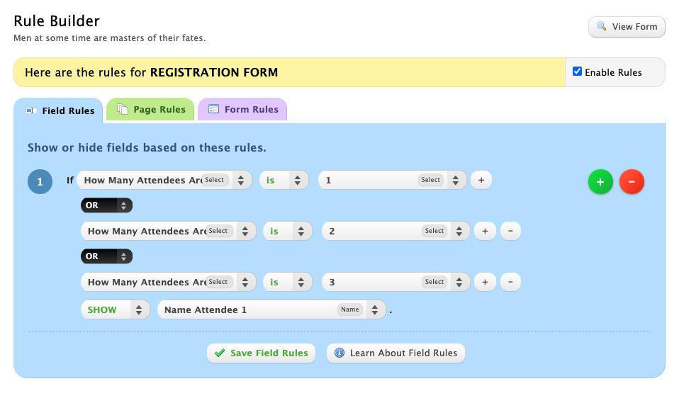 wufoo registration form 3