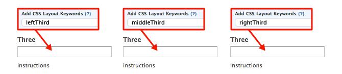 Wufoo CSS Keywords - Thirds